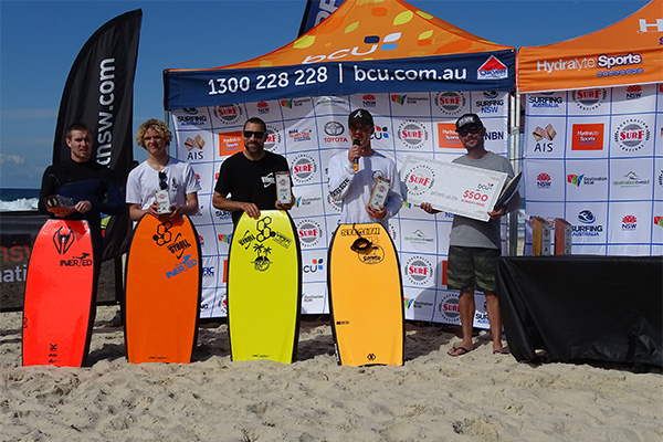 ASF Body Boarding winners ceremony