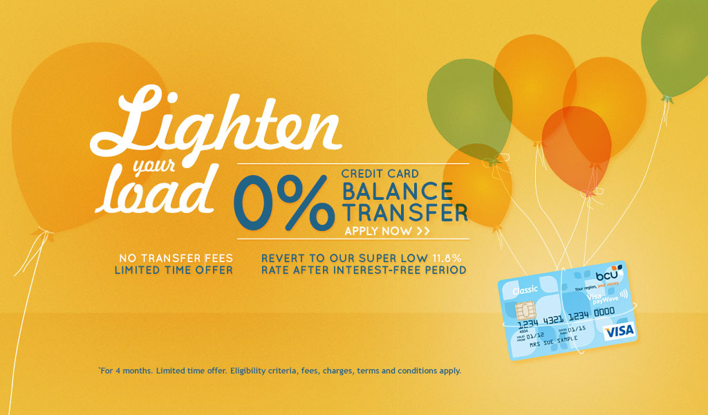 Lighten your load with 0% credit card balance transfer