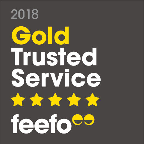 2018 Gold Trusted Service feefo