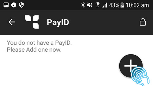 If it is the first time adding a new PayID, tap 'Add New'